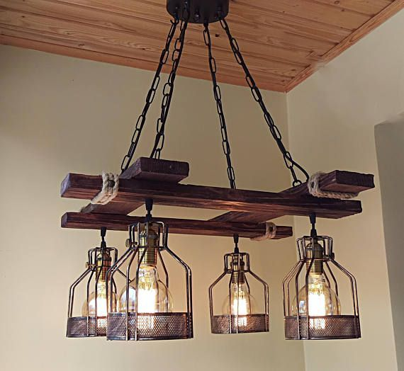 40 Diy Chandelier And Ceiling Light Fixture Ideas Wood