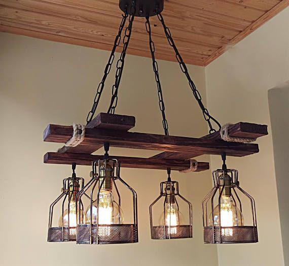 40 Diy Chandelier And Ceiling Light Fixture Ideas Rustic Light
