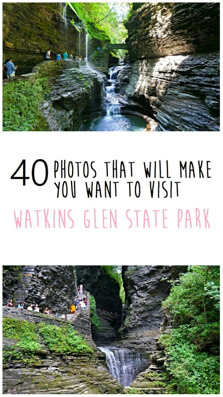 40 photos that will make you want to visit Watkins Glen State Park. This park is one of the most beautiful in upstate New York.