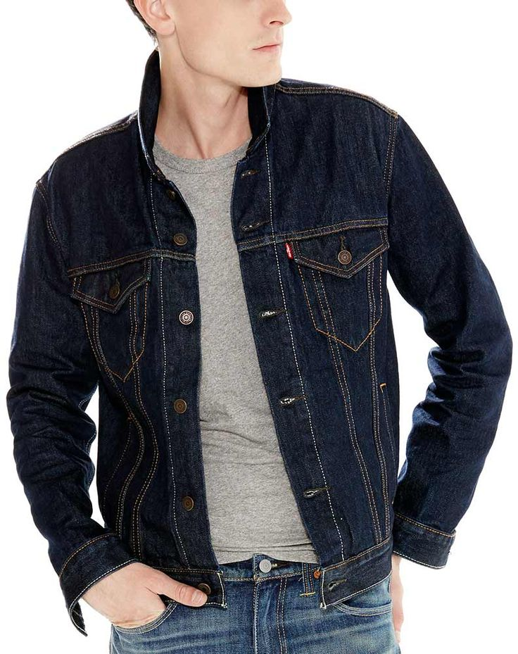 Levi's Men's Denim Trucker Jacket Rinse Mens fashion
