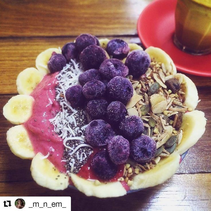 Hell yeh @_m_n_em_! Always a pleasure to have your smiley face at The B Bar for brekky!  #Repost @_m_n_em_ (@get_repost)  Filling up with goodness Spiced beetroot smoothie bowl& turmeric latte  so yummy !! Thank you beautiful @the_bircher_bar crew!  #goodness #healthy #yummy #nomnomnom