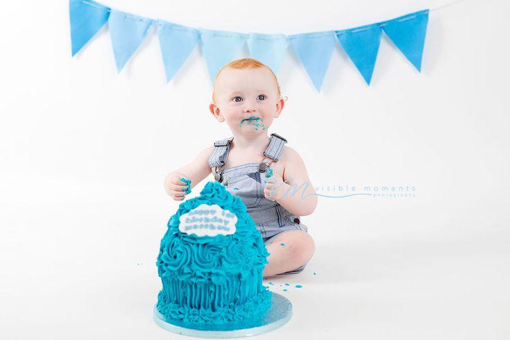 Cake smash blue theme