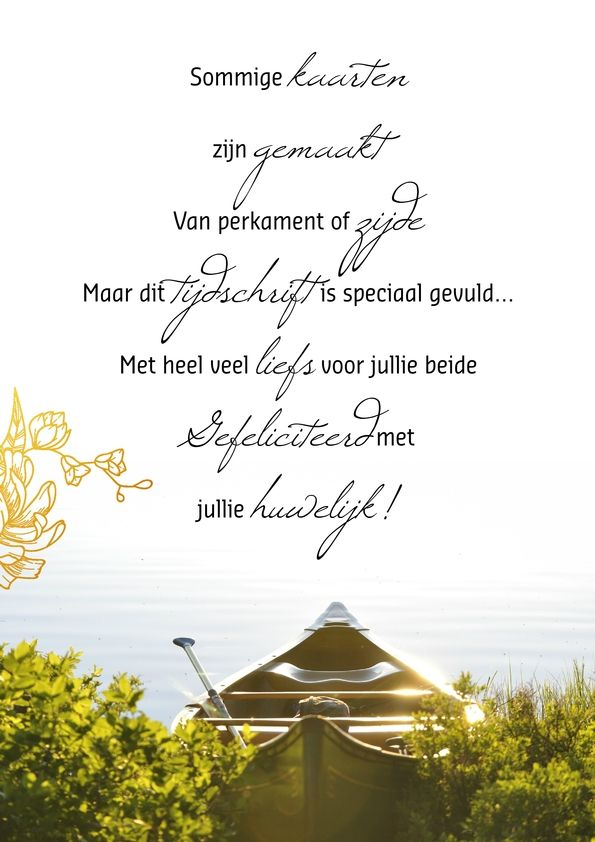 Huwelijkscadeau idee: Maak samen een tijdschrift voor het echtpaar! Klik door voor inspiratie over romantische gedichten voor een huwelijk en sjablonen voor een huwelijkstijdschrift. Of ga naar jilster.nl en bekijk wat voor tijdschriften je nog meer met Jilster kunt maken.