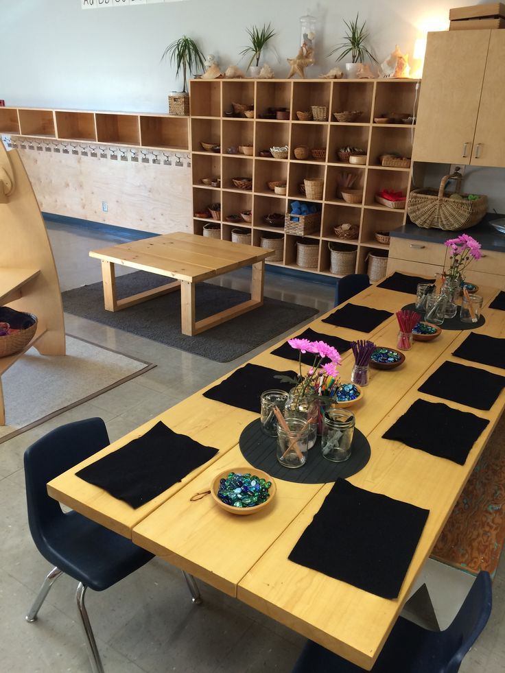 GET PLACEMATS TO SET BOUNDARY OF WORKSPACE Loose parts provocation