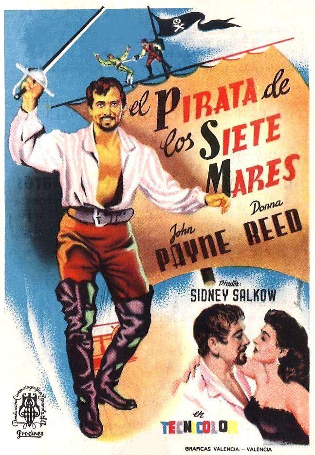"""El pirata de los siete mares (1953) """"Raiders of the Seven Seas"""" de Sidney Salkow - tt0046223"""