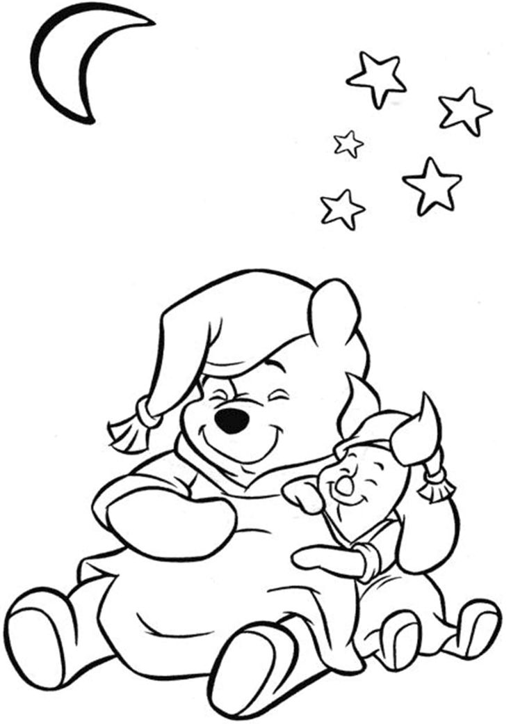 free  easy to print winnie the pooh coloring pages