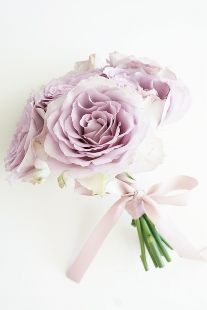 Wedding bouquet- light/ lavender purple Gardenias - simple- Bridesmaids bouquet -posey bouquet stlye