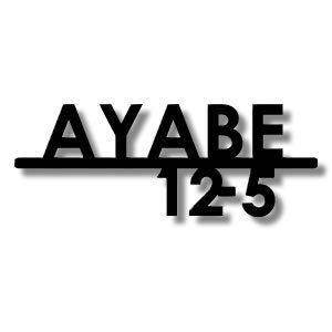 【アルファベット9文字以内・番地5文字以内】番地付き対応のレーザーカットステンレス表札 幅29cm以内 stl290130n アイアン表札の進化型