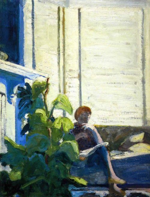 Paul Wonner, Figure by Window, 1962