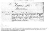 Birth Record in Latin - Poland, Roman Catholic Church Books (FamilySearch Historical Records) Genealogy - FamilySearch Wiki