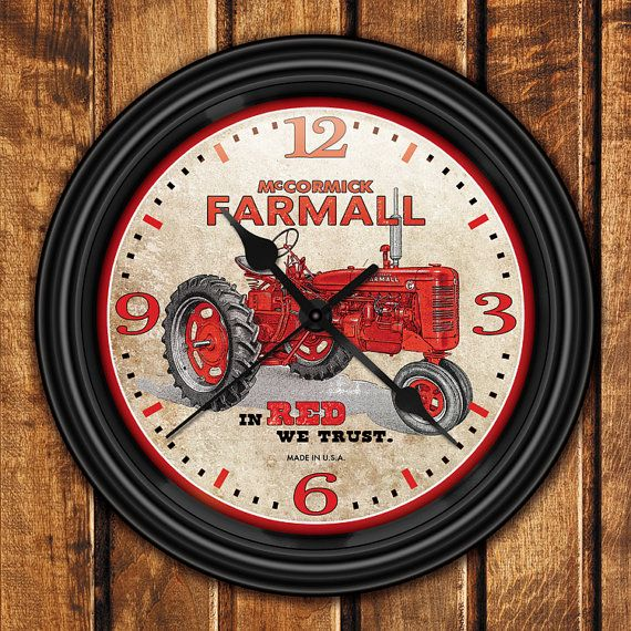Farmall international harvester farm tractor retro style for International harvester room decor