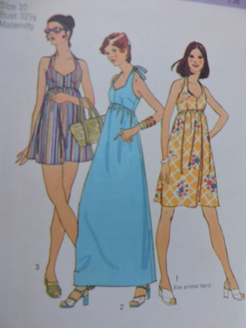 SeeSallySew.com - Halter Dress Bathing Suit Maternity Vintage Design Simplicity 6415 Pattern Sz. 10  , $10.00 (http://stores.seesallysew.com/halter-dress-bathing-suit-maternity-vintage-design-simplicity-6415-pattern-sz-10/)