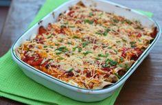 Wraps uit de oven met gehakt, paprika en kaas