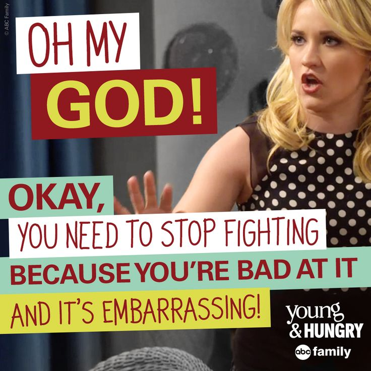That was a funny fight! | Young & Hungry Quotes