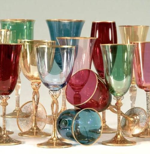 Murano glasses - I have such a huge weakness for beautiful coloured glass