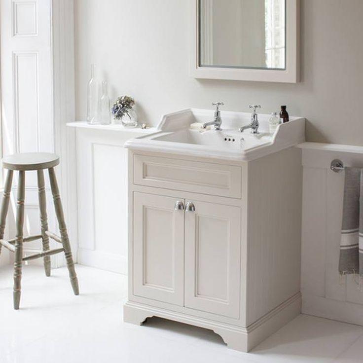 Burlington Sand 650mm Freestanding Vanity Unit With Doors Amp Classic Basin Vanity Units Bathroom Sink Units Bathroom