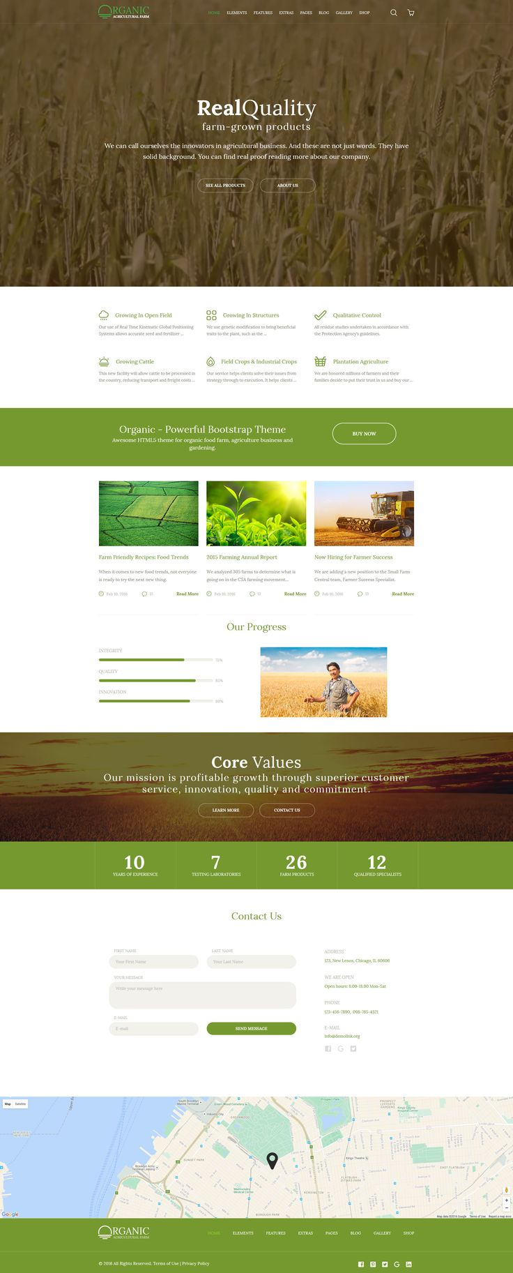 Agricultural Website Template http://www.templatemonster.com/website-templates/organic-agriculture-farm-multipurpose-website-template-58580.html