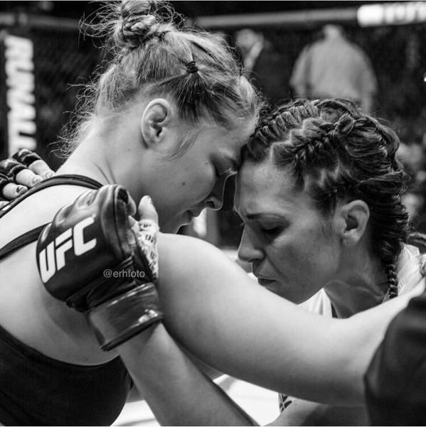 """a """"Beautiful Moment"""" in #MMA history - Ronda Rousey consoles Cat Zingano : if you love the #UFC, you will love the #MixedMartialArts inspired designs at CageCult: http://cagecult.com/mma"""