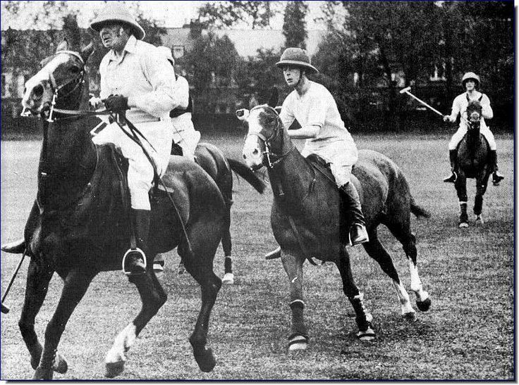 Rare Winston Churchill Photo of him in action. He loved riding, polo, horses.