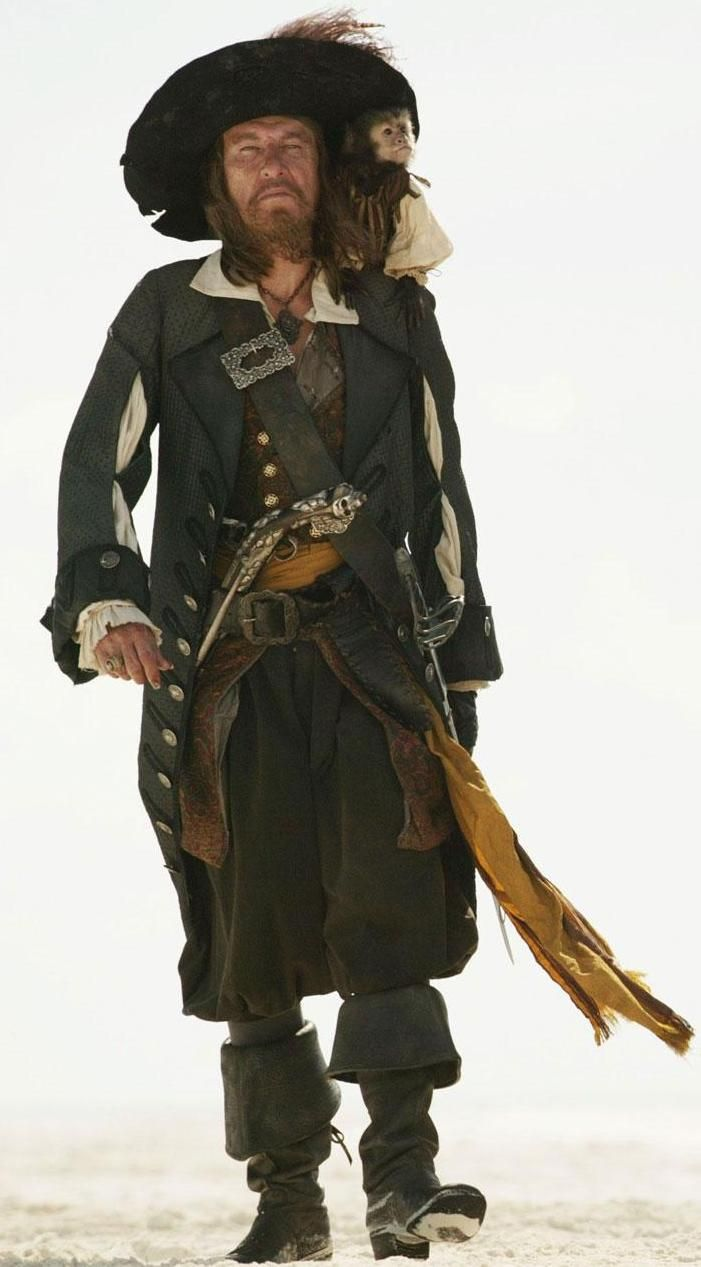 Barbossa has a simple shorter beard compared to the others. in some of the later Pirates of The Caribbean movies, he looks much older and tired looking, this could be something I consider in my character look. Adding and old age makeup to finish my look.