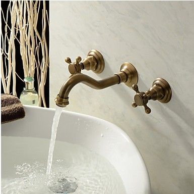 Antique Inspired Bathroom Sink Tap Brass Finish T0459A