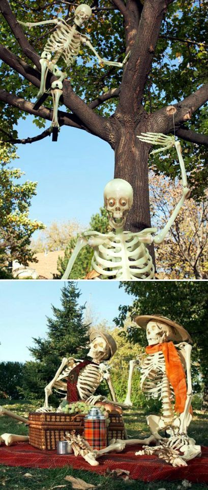 Ghastly Ideas to Decorate Your Yard This Halloween Skulls and - halloween decorations ideas yard