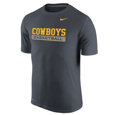 Men's Nike Anthracite Wyoming Cowboys Basketball Legend Practice Performance T-Shirt #GoWyo