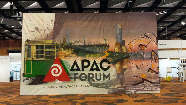 Custom Graffiti Art by Dubiz for the APAC Forum, Melbourne #apac #street #art #installation #graffitiart #forum #canvas