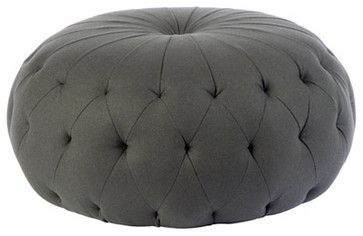 """Pouf 43"""" Round Ottoman - eclectic - ottomans and cubes - Cisco Brothers"""