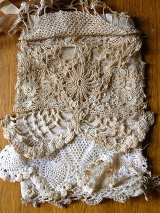 Can make from thrifted and vintage laces and doilies