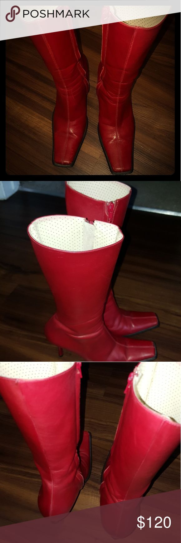Fornarina heels Boots Fornarina Boots from Italy beautiful soft leather, it is great condition I wore tops four times !  No box and no dust bag fornarina Shoes Heeled Boots