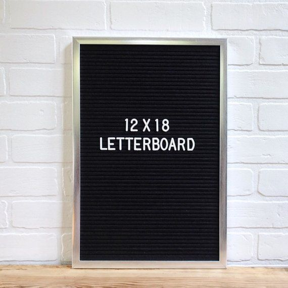 12 X18 Premium Letter Board With Metallic Silver Painted Wood Frame Free Shipping In The Continental Us Ships Felt Letter Board Lettering