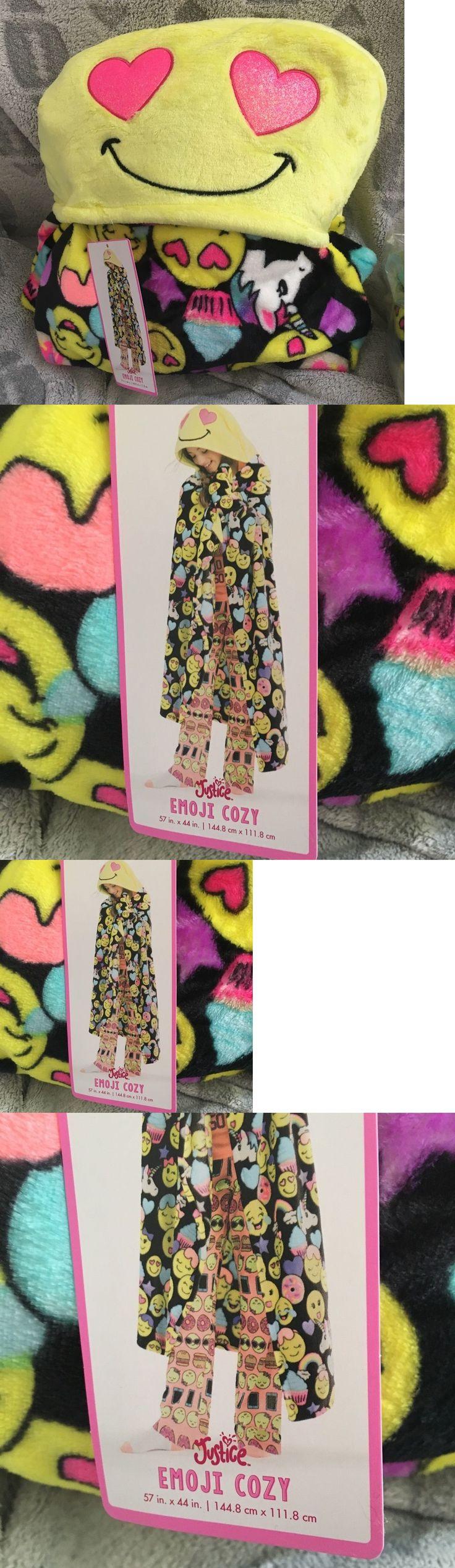 Sleepwear 99735: Justice Girls Emoji Blanket Soft Hooded Sleepovers Cute!!! New Tween -> BUY IT NOW ONLY: $35.99 on eBay!