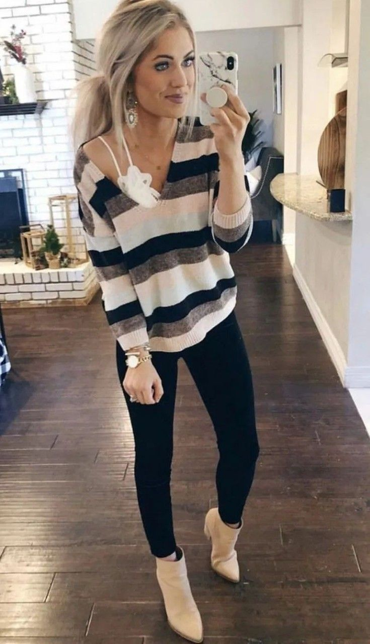 Cute fall outfits with stylish black leggings, casual outfits, fall outfits Ideas, cute outfits