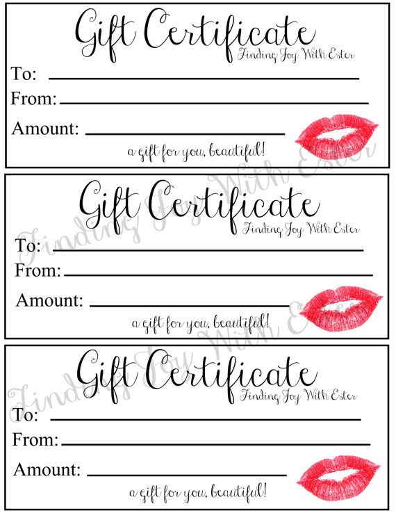 9 best Gift certificates images on Pinterest Free printable - gift certificate wording
