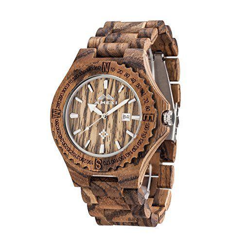 Nuova offerta in #orologio : AMEXI orologi in legno orologio al quarzo analogico di legno di zebra per gli uomini fatto a mano con il colore marrone a soli 39 EUR. Affrettati! hai tempo solo fino a 2016-12-05 23:34:00