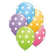 Multi Colour Polka Dot Balloons #thepartycompanycomp