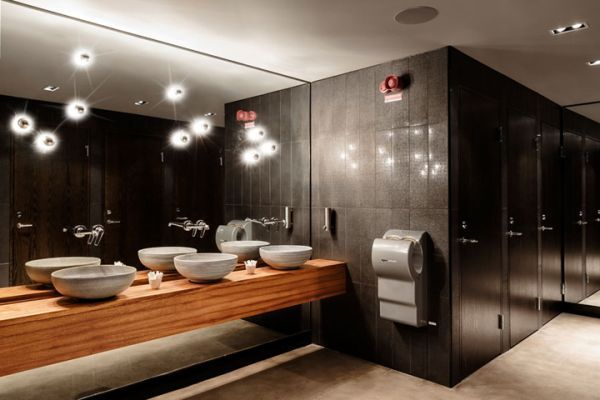 la spiga restaurant and bar around the worlds restaurant and bathroom stall - Restaurant Bathroom Design