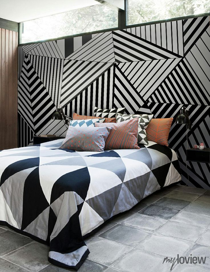 Geometric Wall Mural From Myloview My Bedroom