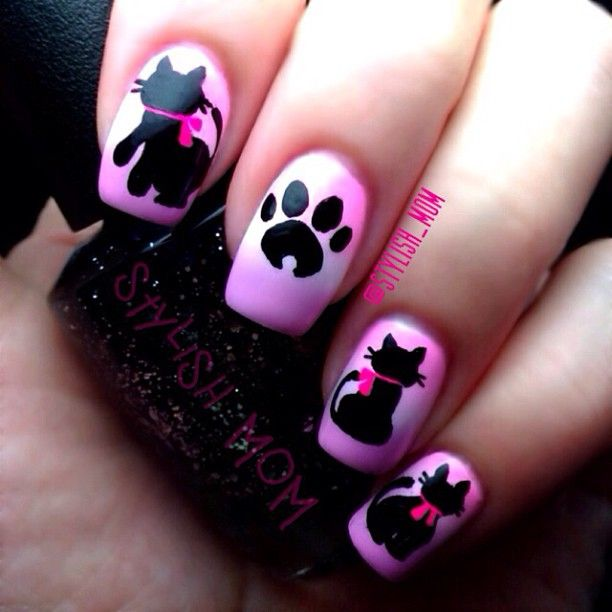 131 best Cat Nails images on Pinterest | Cat nails, Cat nail art and ...