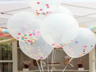 confetti filled birthday balloons