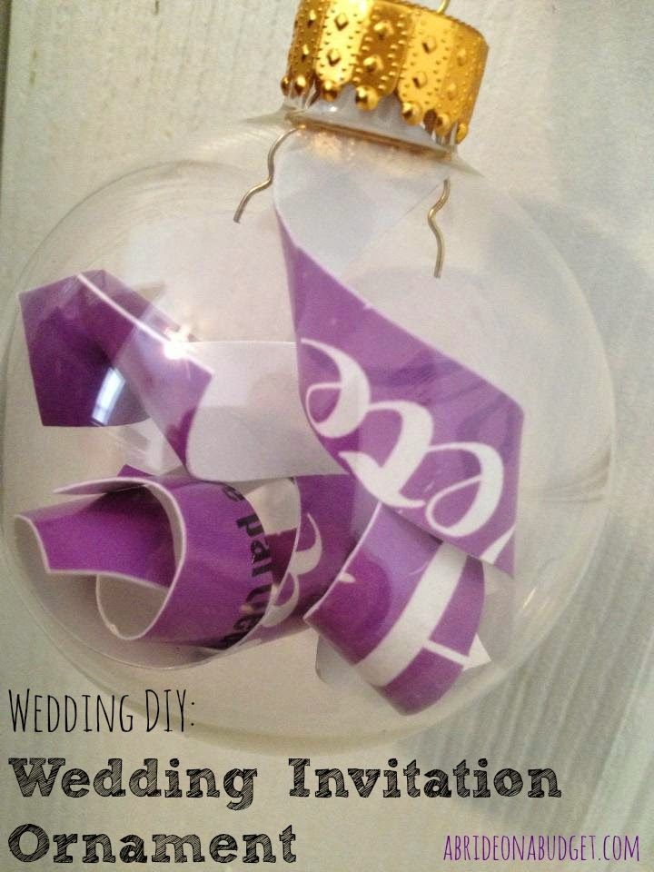 diy wedding keepsake christmas ornament