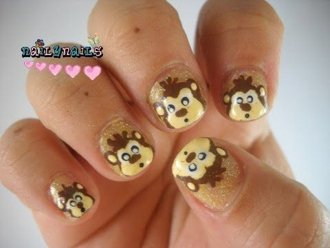 Monkey Nail Art - Diseño de Uñas de Monitos