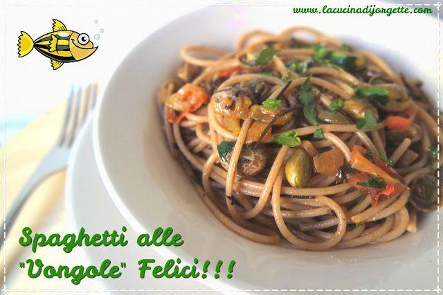 """la cucina di Jorgette: PRIMA RICETTINA DELL'ANNO ---> CON I MIEI SPAGHETTI ALLE """"VONGOLE """" FELICI!!!!!"""