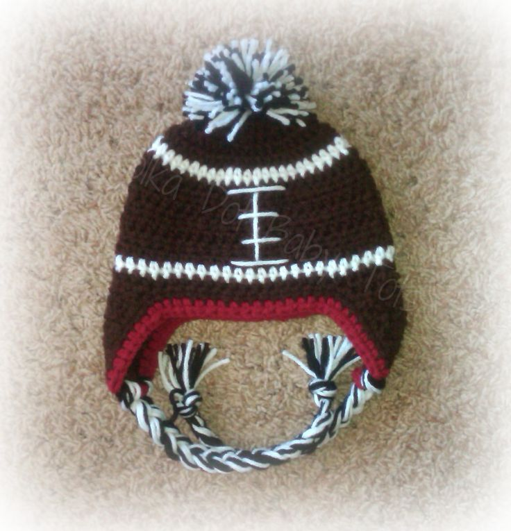 Best 25+ Crochet Football Hat Ideas On Pinterest
