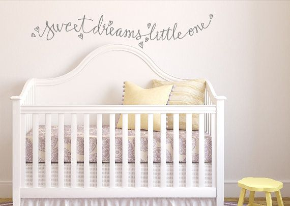 Sweet Dreams Little One Custom Vinyl Wall Decal By WelcomingWalls - Custom vinyl wall decals nursery