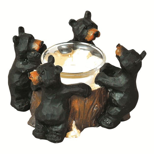 Visit Black Forest Decor Today And Enjoy Discounts As High As Off On Our  Rustic Candle Holders And Candles, Which Includes This Black Bear Votive  Holder!