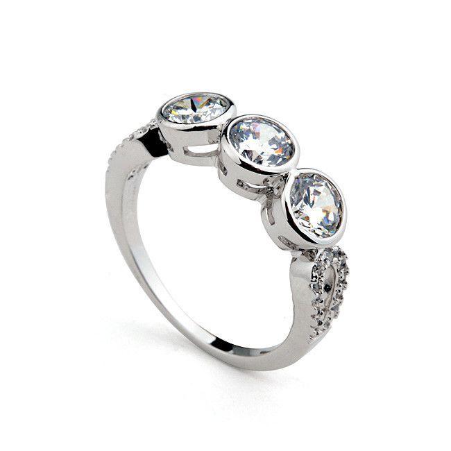 Австрийский хрусталь 18 К позолоченные обручальное кольцо с 18 К обручальных колец золото-Ювелирные изделия из цинкового сплава-ID товара::60257055355-russian.alibaba.com