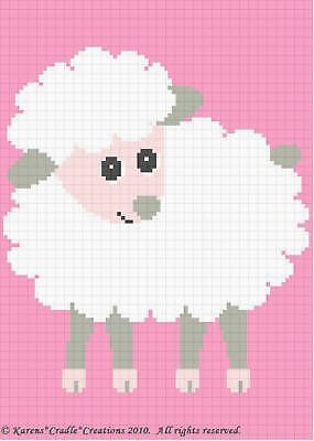 Crochet Patterns - BABY LAMB Afghan Pattern **EASY!**
