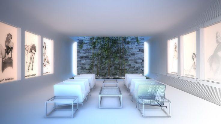 Criar diferentes ambientes de um hotel altamente sofisticado para ilustrar ambientes musicais distintos de uma radio online.   - Press Room